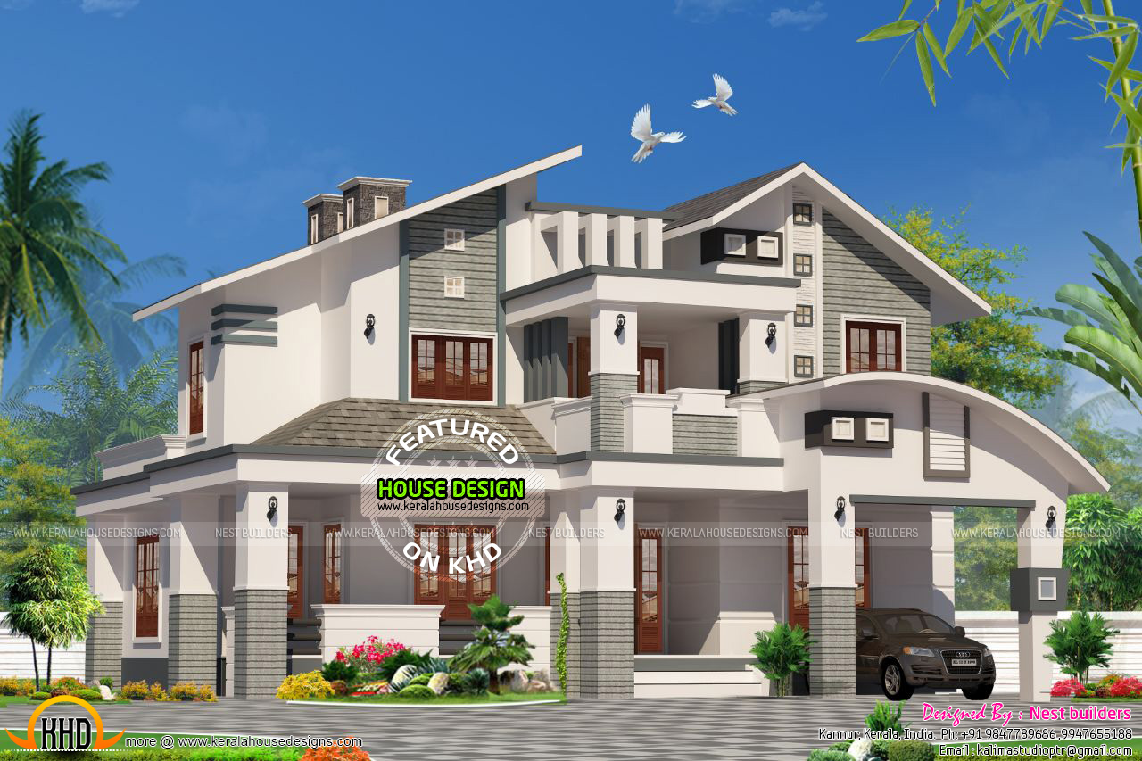 3 bedroom house  in 2021  sq ft Kerala  home  design and