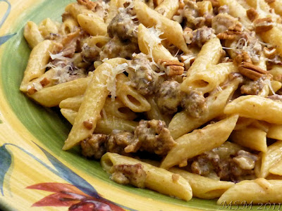 Penne w/ Sausage, Walnuts, and Cream