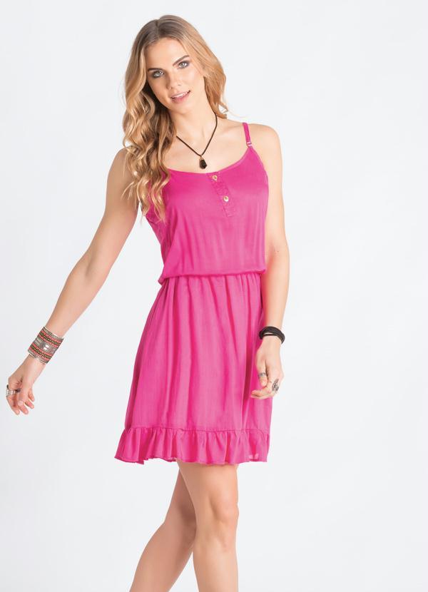 Vestido de alças finas pink