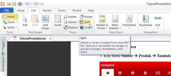 memisahkan pdf dengan nitro
