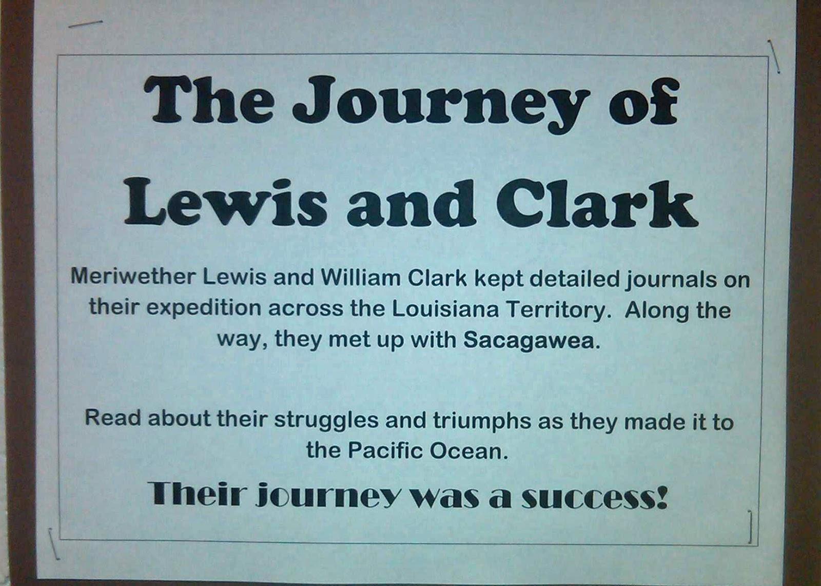 Lewis And Clark Activity Classroom Activities Social