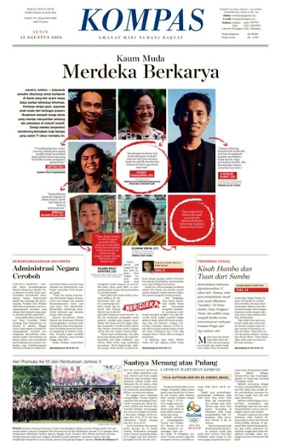 Kompas Edisi Senin 15 Agustus 2016