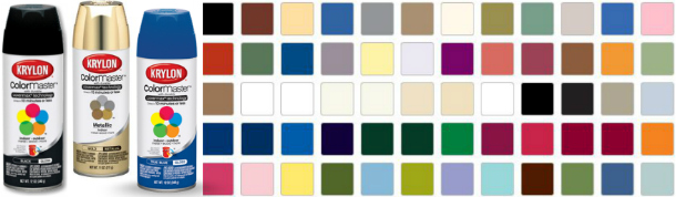 Krylon colormaster spray paint color chart home painting