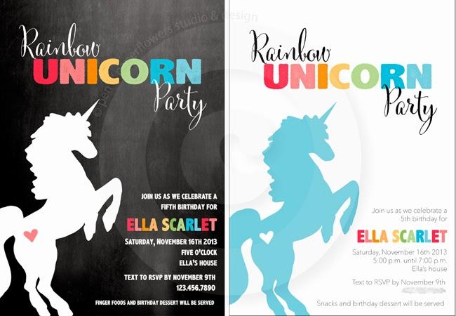 Pen Paper Flowers Party Preps Rainbow Unicorn Birthday Party