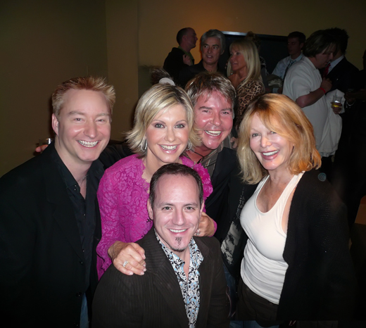 With Olivia Newton-John, Gregg Cave, Michael Caprio and Rona Newton-John