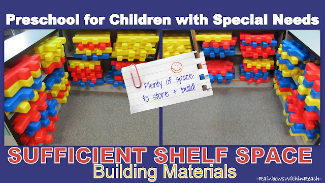 photo of: Building Materials stored on Shelves with room for making projects