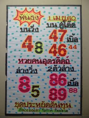 เลขเด่นบน  4  8 47  46  44 เลขเด่นล่าง  8  5 86  89  88