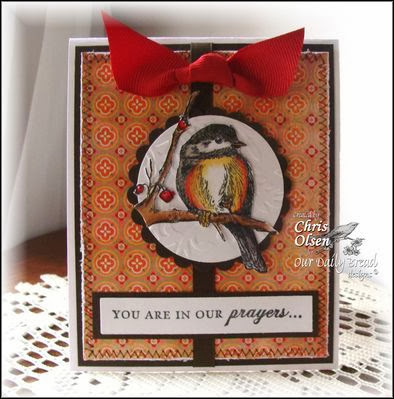 ODBD Products - You Will Find Refuge, ODBD Custom Chickadee Die, Flourished Christian Symbols