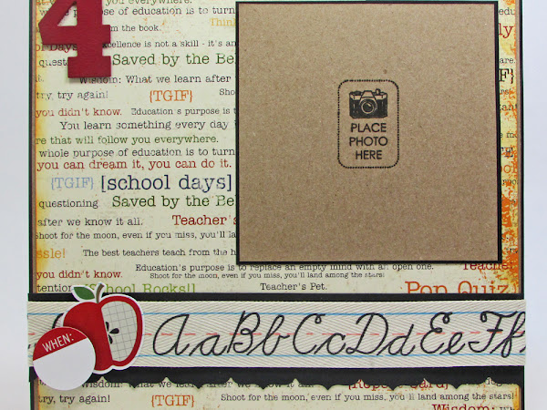 Back to School 8x8 Scrapbook Layout