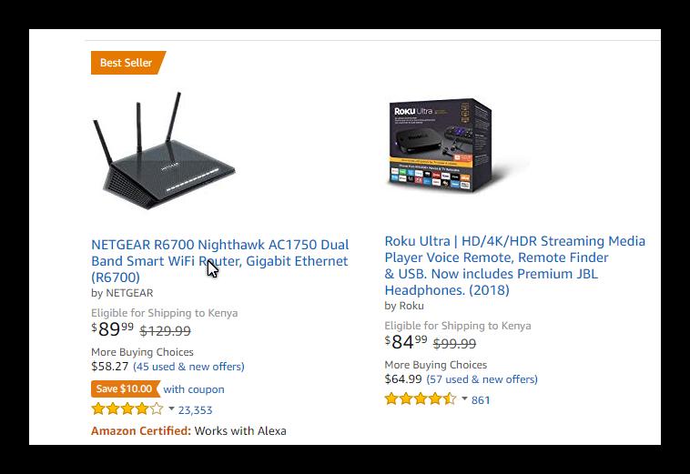 Shop and pay on Amazon com using Kenyan shillings (Kes/Ksh