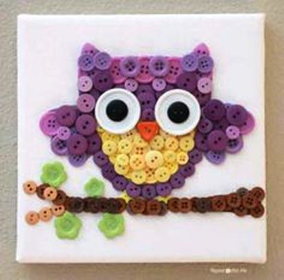 Button Craft Ideas Art Crafts Projects