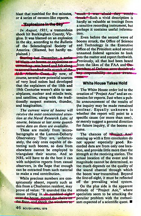 Science Digest Article From April 1978 About Air Booms Phenomenon Caused by Cosmospheres part 2