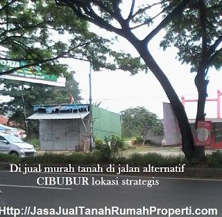 Jual tanah murah 5 Ha pinggir jln alternatif cibubur dekat kotawisata