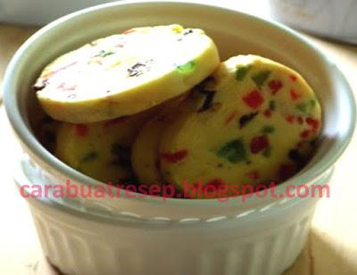 Foto Resepi Tutti Frutti Cookies Tanpa Telur Sederhana Spesial Asli Enak