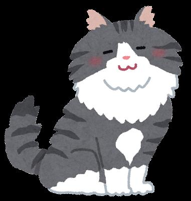 ノルウェージャン・フォレスト・キャットのイラスト(猫)