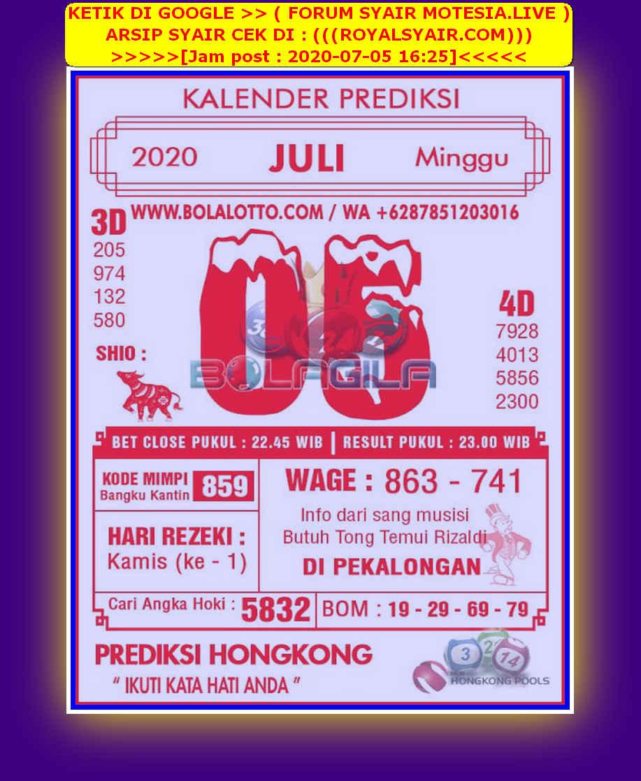 Kode syair Hongkong Minggu 5 Juli 2020 205