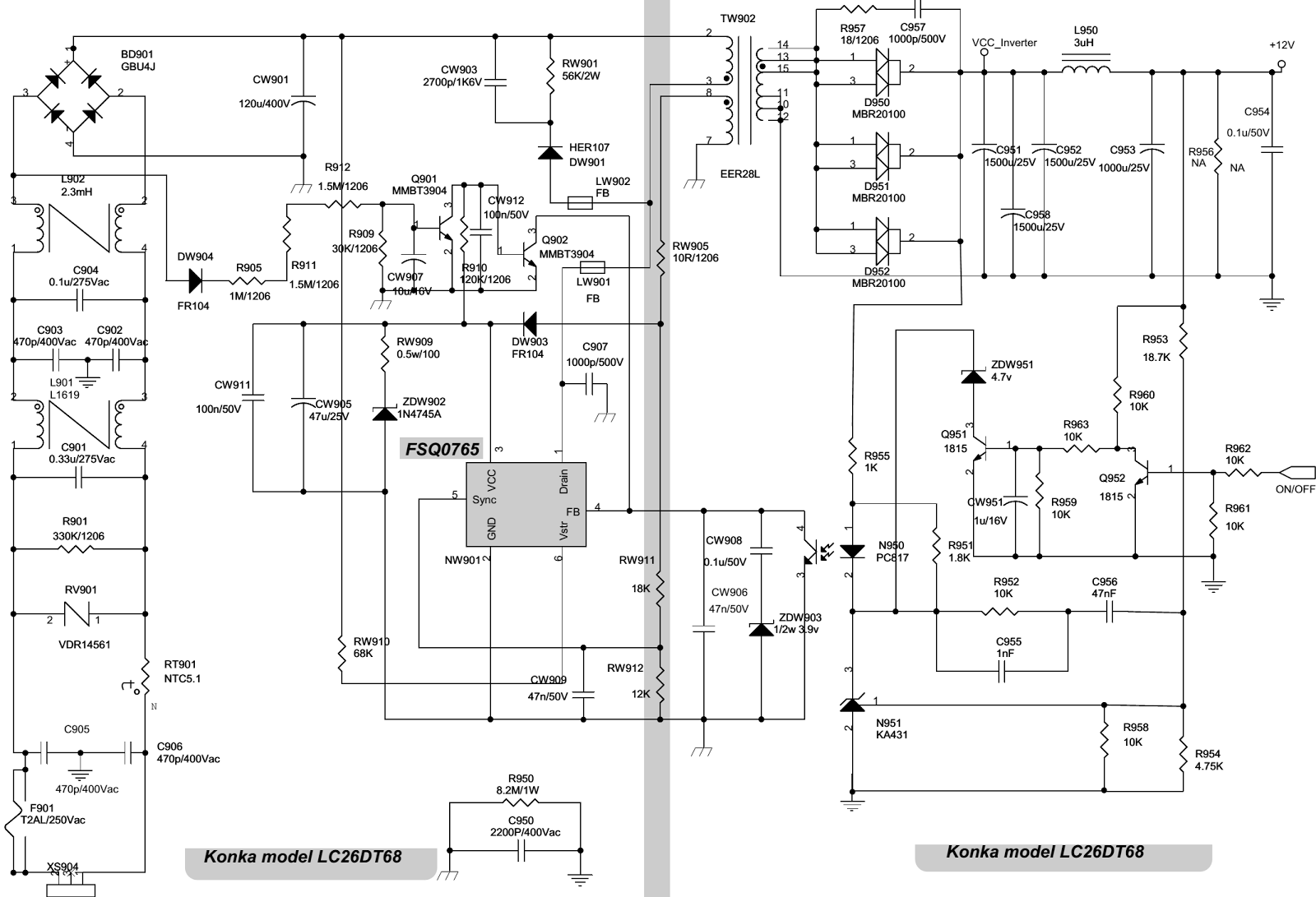 smps schematic circuit diagram troubleshooting electro help