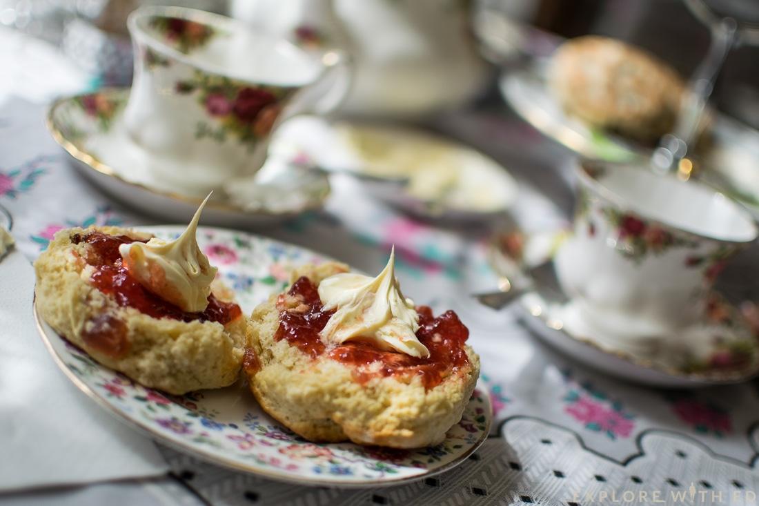 Cream Tea in The Victorian Tea Rooms Abergavenny