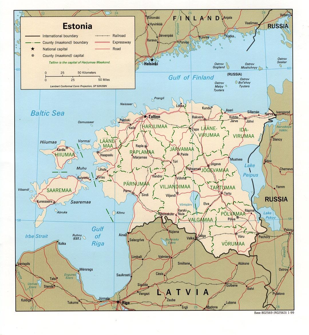 Estônia | Mapas Geográficos da Estônia