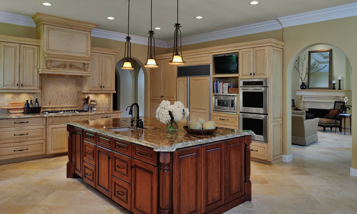 How To Remodel A Kitchen Island Design In The Woods: Traditional Kitchen Remodel - Before