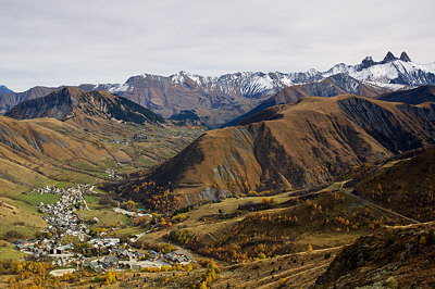 Mountains and valley in the Alps
