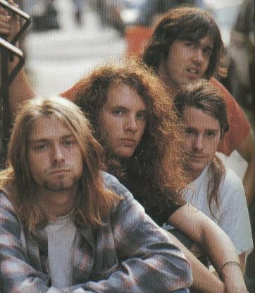 Nirvana Kurt Cobain Krist Novoselic Jason Everman Chad Channing 1989 Seattle Grunge