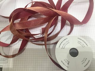 Merry Merlot, Copper Reversible Ribbon, Stampin Up