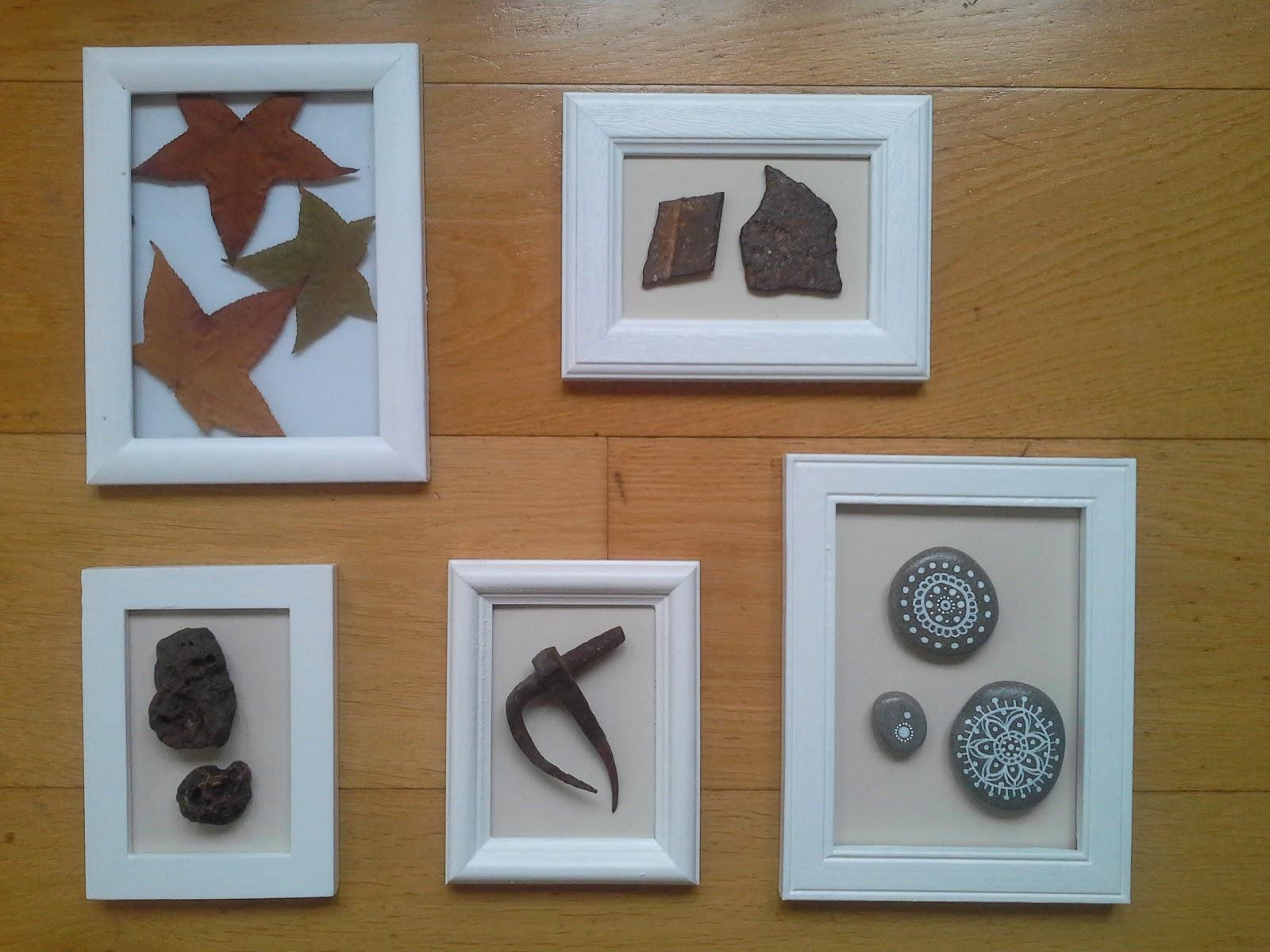 Las cosas de bego cuadros hechos con objetos - Cuadros hechos con piedras de playa ...