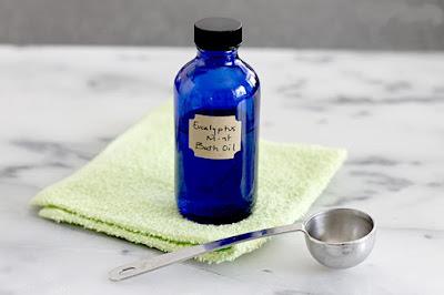 Make Your Own  Eucalyptus Mint Bath Oil