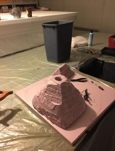 Destruction of Pompeii (My daughters 3rd grage Science Project)