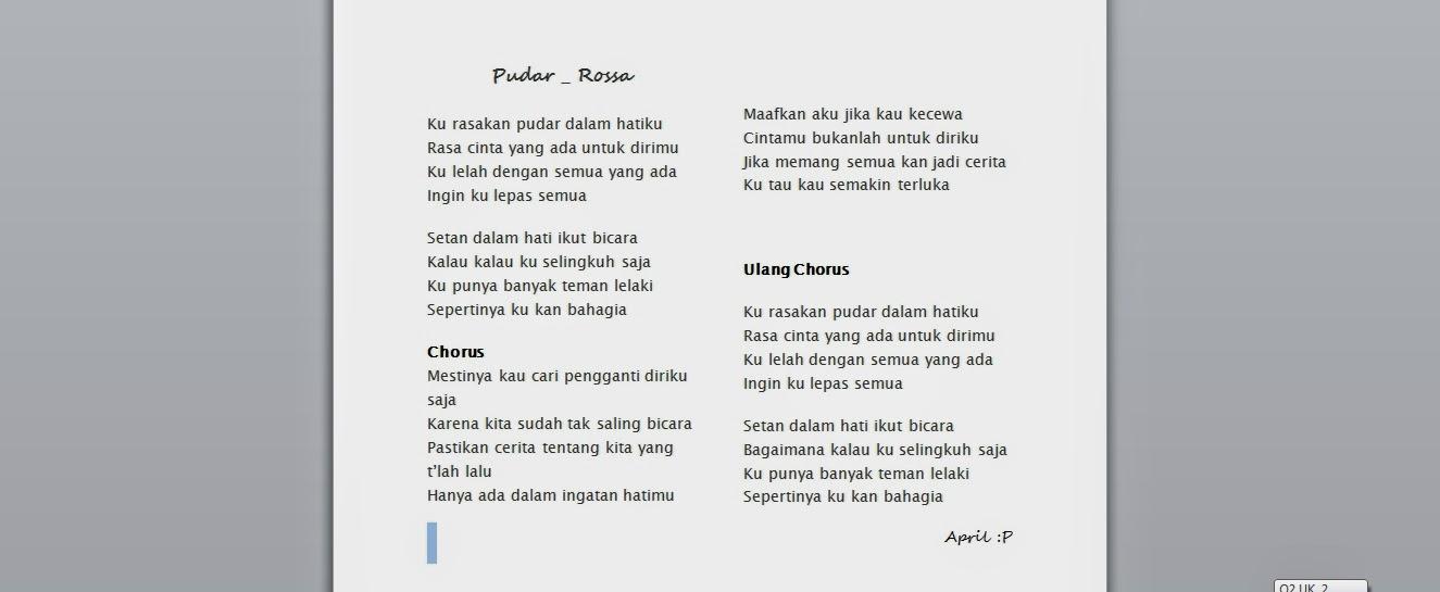 lirik lagu laoneis band ayah