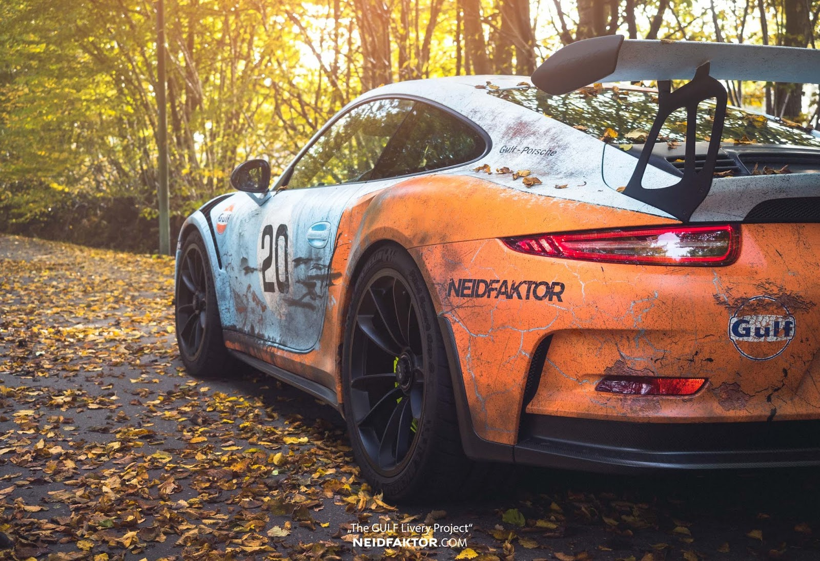 Porsche 911 Gt3 Rs Poses With Rusty Gulf Livery Carscoops