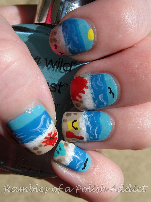 Summer Beach nails! | Rambles of a Polish Addict