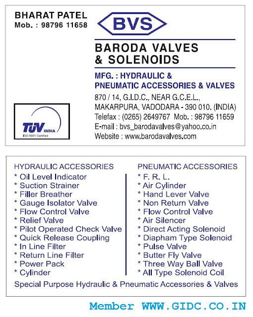 BARODA VALVES & SOLENOIDS - 9879611659 7874246411 9879611755