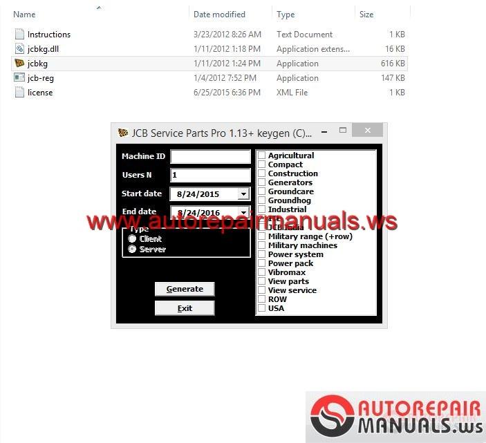 Free Auto Repair Manual : JCB Service Parts Pro 1.17.0002