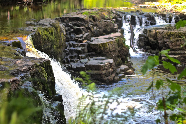 welsh waterfall in waterfall country