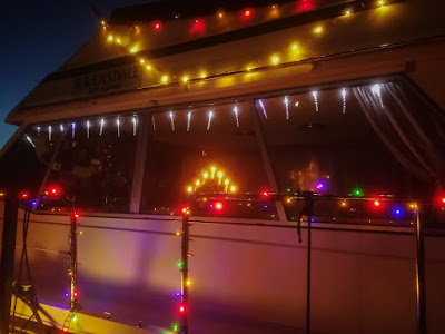 Photo of some of Ravensdale's colourful Christmas lights