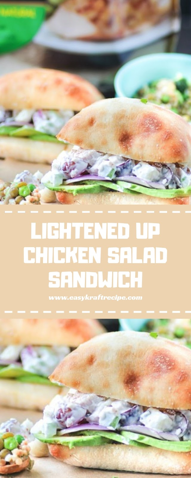LIGHTENED UP CHICKEN SALAD SANDWICH