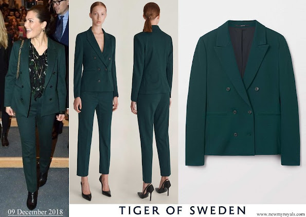 Crown Princess Victoria wore Tiger of Sweden Molena suit