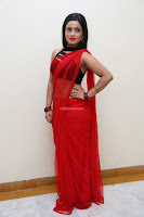 Aasma Syed in Red Saree Sleeveless Black Choli Spicy Pics ~  Exclusive Celebrities Galleries 040.jpg