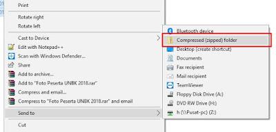 Alternatif Cara Tercepat Merubah File Foto Peserta UNBK Ke ZIP Tanpa Aplikasi