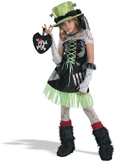 Monster Bride Green Child Costume For Halloween