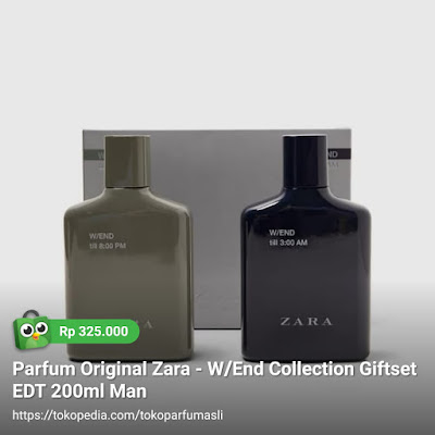 toko parfum asli parfum original zara w/end collection giftset edt 200ml man