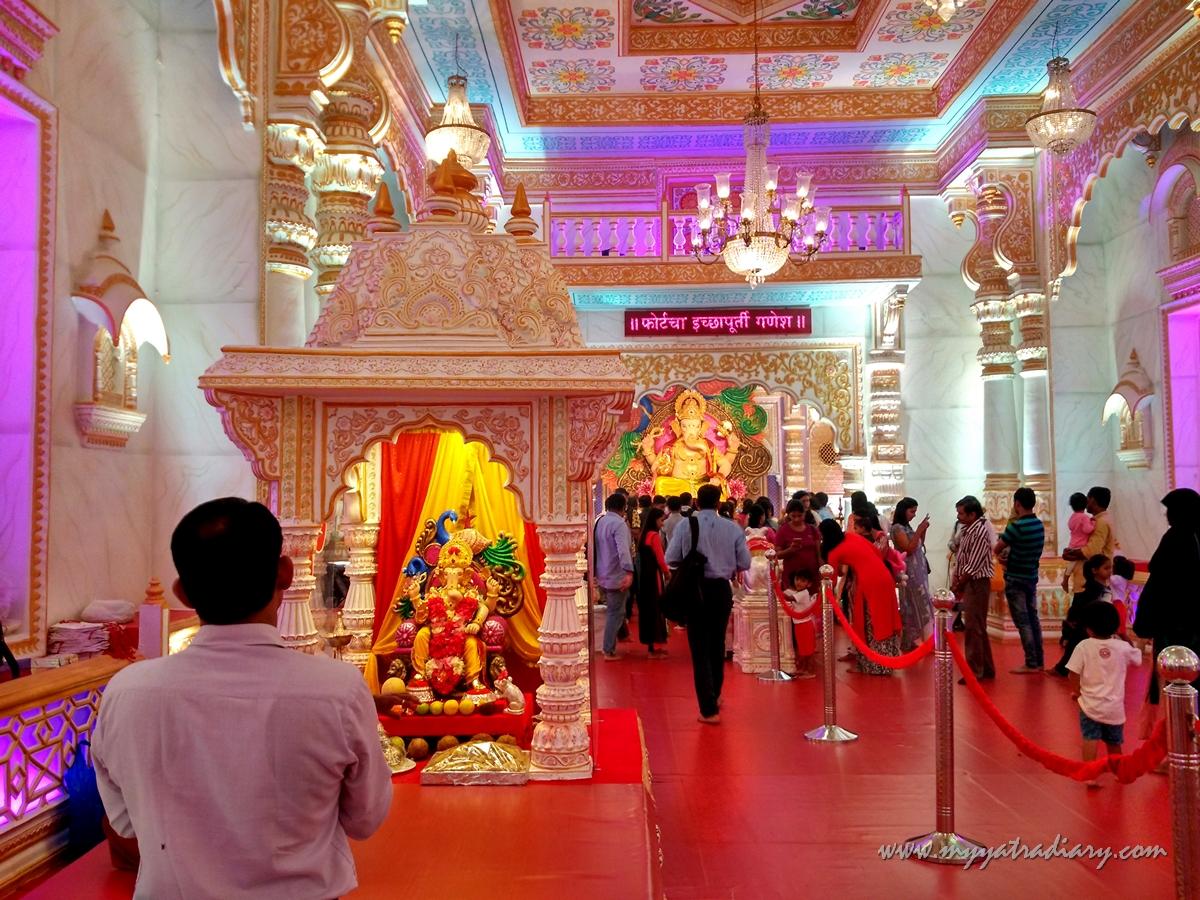 Palace decoration of Fortcha Icchapurti Ganesha, Fort Vibhag Sarvajanik Ganeshotsav Mandal