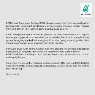 [Video] Insiden kereta tersadai - Petronas mohon maaf