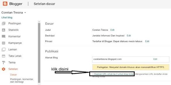 Cara Custom Domain Blogspot Di Dewaweb.com