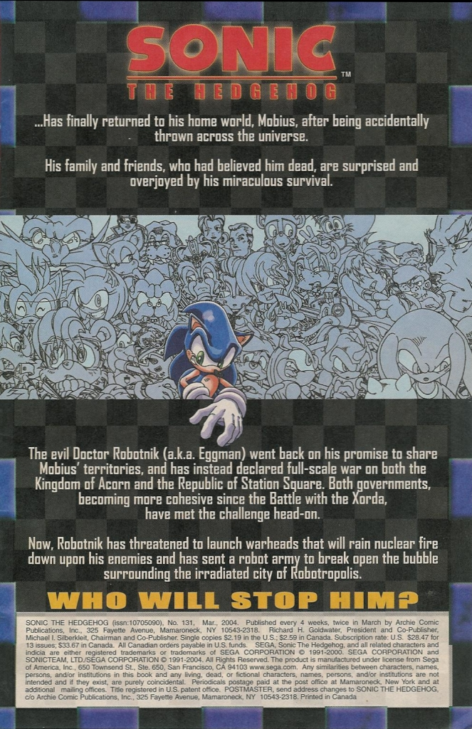 Read online Sonic The Hedgehog comic -  Issue #131 - 3
