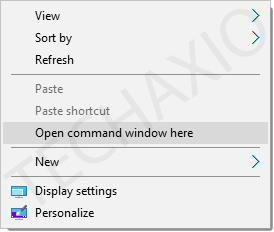 Open command window here option