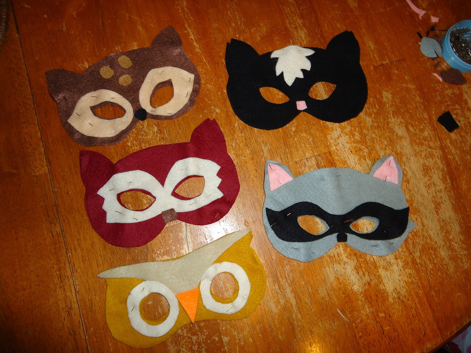 The Torrents Times Animal Felt Masks Woodland