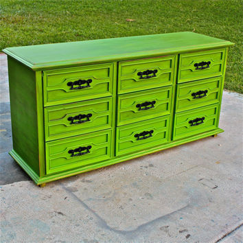 vintage green distressed bedroom furniture dresser